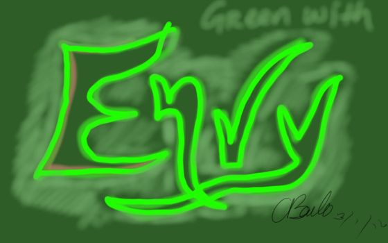 green with envy by lupalover101