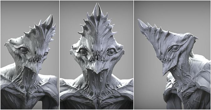 Crowned alien render by mojette