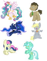 More Pony Stickersss by AnnaKitsun3