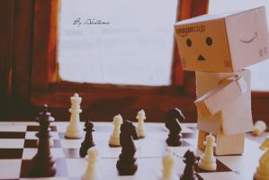 Danbo plays chess. by Akatamy