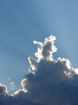 Wild Blue Yonder Sky Clouds 22 by FantasyStock