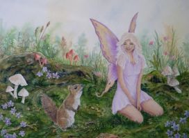 The Faery and the Squirrel. by SueMArt