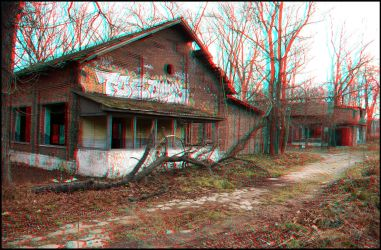 military barracks - anaglyph II by only-melancholy