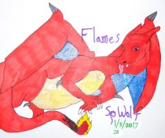 Gift Art: Flames for Crystal by SpellboundFox