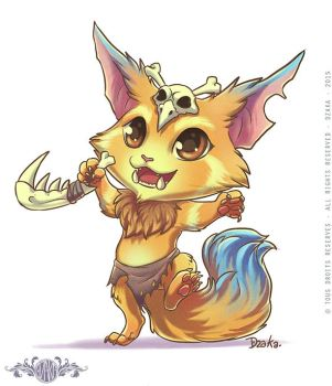Gnar - Fanart League of Legends by o0dzaka0o