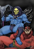 Skeletor and Beastman - original colors by arkahno