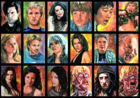 Assorted sketch cards four by choffman36