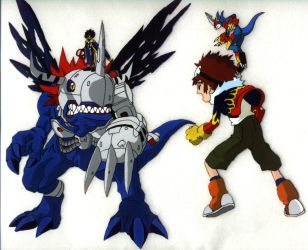 Digimon Animation Cel by kaizerin