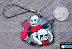 Underfell Skelebros Charms by HappyKittyPlushies