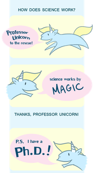 Professor Unicorn 001: SCIENCE by FriendFrog
