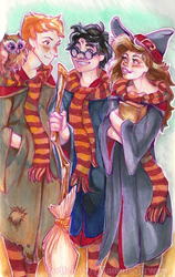 The Harry Potter Gang by tiamat