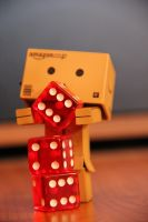 Danbo is stacking some dice by Skycaller1311