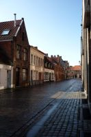 After rain in Bruges by darthsabe