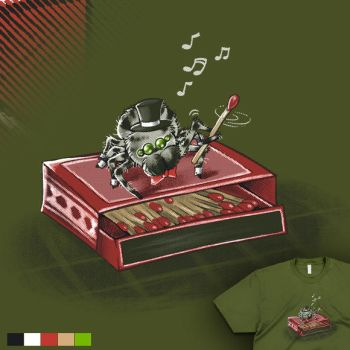 The Amazing Dancing Jumping Spider T-shirt Design by merely-A
