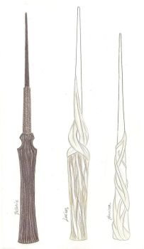 Harry Potter Wands by FlameoftheWest7
