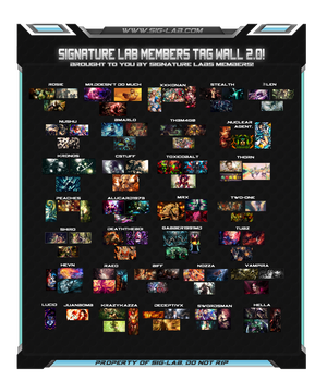 Signature Labs Tag Wall 2.0! by ToxiCobalt