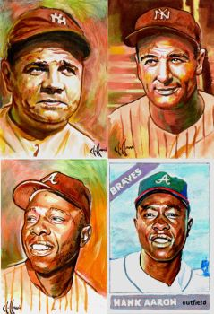 Baseball legend sketches by choffman36