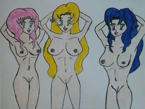 The Sensational Cerulean Sisters Naked by JQroxks21