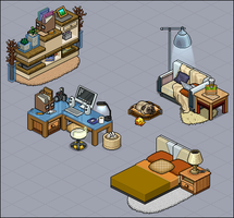 Modern apartment furni set by Cutiezor