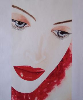 Labios rojos Red lips by Graratiam