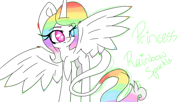 Cringe OC | Princess Rainbow Sparkle  by SnowdronGirl1