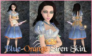 A:MR Skin - Blue-Orange Siren by EvanescentAngel666