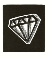 Lino-cut Diamond by xXxSkullsxXx