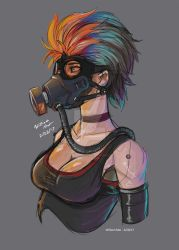 Gas Mask Girl by WMDiscovery93