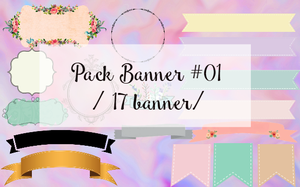 Pack Banner #01 // by andreakaisoo