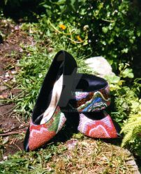 Geology Shoes and Hat by badgersoph