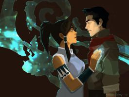 The Legend of Korra: Mako and Korra by ArtisticEnvy