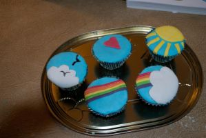 Flying Cupcakes by karatechick13