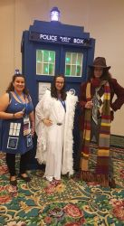 Romana and 4th Doctor @ SD Who Con 2016 by freakismyword