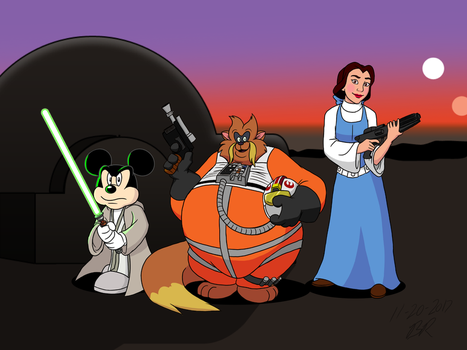 Commission - Disney and Don Bluth's Star Wars by RetroUniverseArt