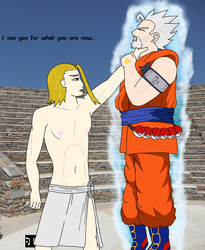 A Battle of Gods by Space-between-spaces