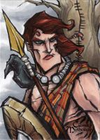 Cuchulainn Sketch Card - Matthew J Fletcher by Pernastudios