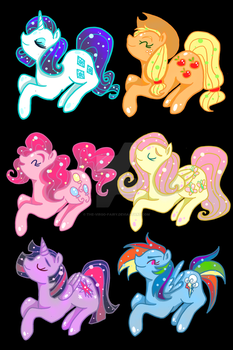 MLP charms by The-Virgo-Fairy