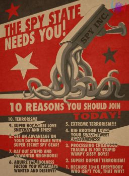 The Spy State Needs You! by Art-of-kNOw