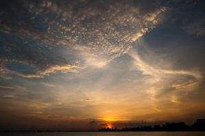 Sunset in Singapore by analogdude
