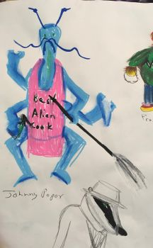 Johnny Popov and Jean the French Resistance Badger by Pepper-the-phoenix
