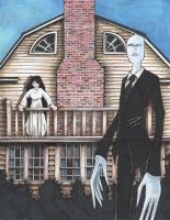 Slenderman, Ring Girl, Amityville House Commission by DragonPress