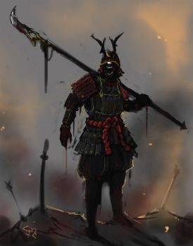 One Eyed Samurai by Halycon450