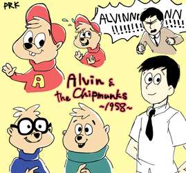 Alvin and The Chipmunks by Puriko-Tairaseki