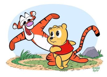 Pooh and Tigger by toonbaboon