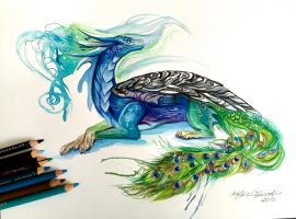 144- Peacock Dragon by Lucky978