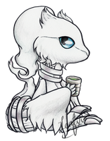 Chibi Reshiram with Tea