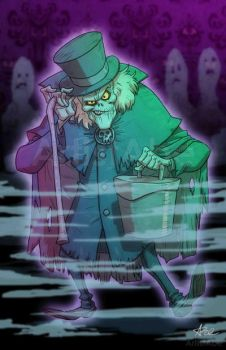 Hatbox Ghost by ArtistAbe
