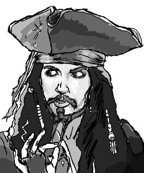 Chrisily 12 3 Captain Jack Sparrow Sketch By