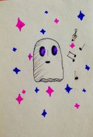 Napstablook  by briethebee