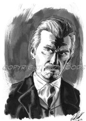 INKtober 2015 Day 9: Doctor Who (Cushing) by tedwoodsart